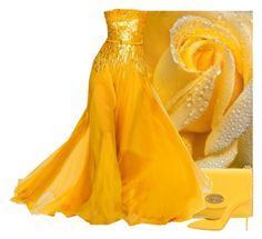 """Yellow Rose Of Texas"" by itsablingthing ❤ liked on Polyvore featuring Mulberry, Elie Saab and Dolce&Gabbana"