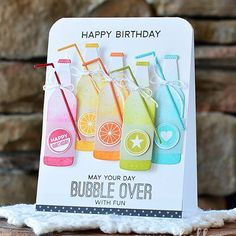 Another fizzy, bubbly, sweet Soda Pop card share #ontheblog today. Soda Pop…