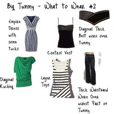 Big Tummy - What to Wear # 2, created by #aileenlane on #polyvore. #fashion #style NW3 by Hobbs J.Crew