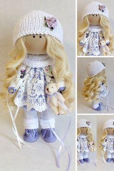 Interior doll Soft doll Textile doll Fabric doll Tilda doll Rag doll Art doll Handmade doll White doll Cloth doll
