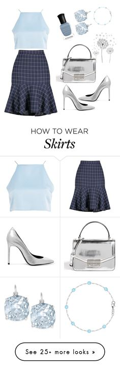 """Baby blue"" by harrariz on Polyvore featuring Glamorous, Yves Saint Laurent, Tory Burch, Deborah Lippmann, Kate Spade and jcp"