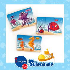 """""""imagnetfun Submarine Magnet Oyuncak"""" • Çocukların el ve göz koordinasyonunu sağlar, düşünme becerisini geliştirir. Parçaları bulup eşleştirme ve yerleştirme prensiplerinden dolayı zeka yeteneklerinin gelişimine yardımcı olur. Küçük büyük kavarımını öğretir. • İçeriği: • İçeriği: 10 Karakter, 30 adet magnet parçadan oluşur. • Nasıl Kullanılır: Oyun, evinizde bulunan herhangi metal zemin üzerine magnet parçalar yerleştirilerek oynanır. 2"""