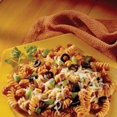 Pizza Pasta by Johnsonville® - featured on Food2Fork.  #food2fork #dinner #pasta #recipes