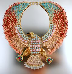 Vulturess Egyptian Vulture Necklace CUSTOM от LuxVivensFashion