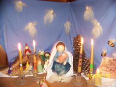 February ~ Candlemas ~ Nature Table ~ *also a play/verses for inspiration to write our own