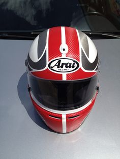Another helmet decorated whit various effects vinyl