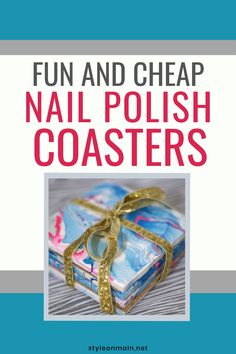 Marbling things with nail polish seems to be everywhere. We're showing you how to make some fun nail polish marbled coasters quickly and easily. Old Nail Polish, Cheap Nail Polish, Cool Coasters, Amazing Crafts, Simple Nails, Some Fun, Fun Nails, How To Plan, How To Make
