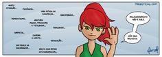Samira e os relacionamentos - Tirinha