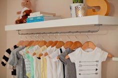 For the laying out next day outfits.   19 IKEA Hacks for the Nursery via Brit + Co.
