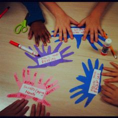 Trace hands, write who the kids will pray for on the fingers and hand. Sunday School Crafts For Kids, Bible Crafts For Kids, Sunday School Lessons, School Fun, Preschool Crafts, Projects For Kids, Prayer Crafts, Children's Church Crafts, Holiday Club