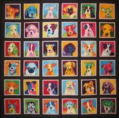 Pop Art Pups!!  http://www.ululating-undulating-ungulate.com/wp-content/uploads/2009/12/pup-art-pop-art-quilt-by-nancy-brown.jpg