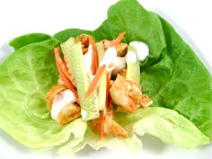 """Spicylicious, Skinny """"Hot Wings"""" Lettuce Wraps with Weight Watchers 3 Points plus Skinny Kitchen"""