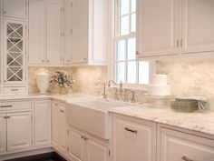 Supreme Kitchen Remodeling Choosing Your New Kitchen Countertops Ideas. Mind Blowing Kitchen Remodeling Choosing Your New Kitchen Countertops Ideas. White Kitchen Backsplash, White Kitchen Cabinets, Kitchen Cabinet Design, Kitchen Redo, Kitchen Tiles, Kitchen Countertops, New Kitchen, Backsplash Tile, Marble Countertops