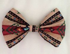 Aztec fabric bow clip  available in 5 sizes by KatiecraftShack, $2.00