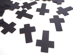 croci nere coriandoli nozze matrimonio gotico battesimo halloween chiesa…