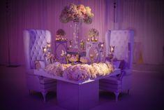 What does a sweetheart table look like for an NFL cornerback? (Joe Haden wedding photo courtesy Alain Martinez)