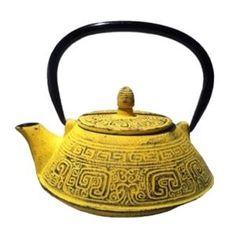 #Tetera de Hierro Amarilla Tetsubin Tradicional