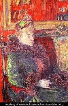 Henri De Toulouse-Lautrec Portrait of Madame de Gortzikolff hand painted oil painting reproduction on canvas by artist Henri De Toulouse Lautrec, Renoir, Oil Painting Reproductions, Art Graphique, Henri Matisse, French Artists, Anime Comics, Claude Monet, Oeuvre D'art