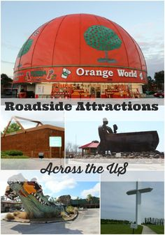 Roadside Attractions Across the US. #roadtrip #roadside #VictoryAutoMN http://victoryautoservice.com/ Road Trip Usa, Usa Roadtrip, Family Road Trips, Summer Road Trips, Travel With Kids, Family Travel, Trip Planning, Orlando Tourist Attractions, Roadside Attractions