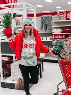 Making Spirits Bright Tee: Gray Olive Badass Style, Comfort Colors, Red Glitter, Affordable Clothes, Online Boutiques, Fashion Boutique, Christmas Sweaters, Graphic Tees, Teal