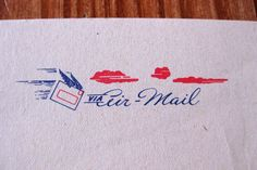 Vintage Air-Mail Envo-Letters aerogramme stationery, complete in original packaging, 1940s / WWII, via Etsy.