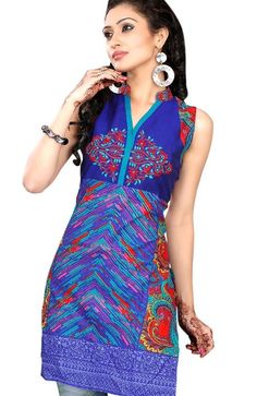 Blue Colored #Designer #Tunic