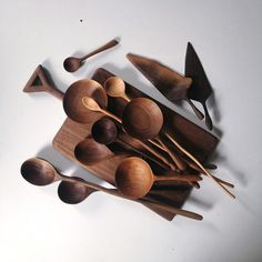 Beautiful Hand-Carved Wooden Spoons Ariele Alasko