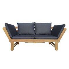 Loungebank Murcia - grijs   Leen Bakker Murcia, Outdoor Sofa, Outdoor Furniture, Outdoor Decor, Daybed, Balcony, Inspiration, Home Decor, Products