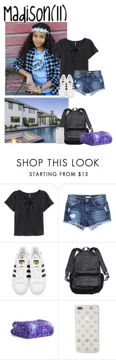 """""""Saturday//sleepover with hayven and friends//9.9.17"""" by mayas-polyfam ❤ liked on Polyvore featuring H&M, adidas Originals, Victoria's Secret, Vera Bradley, Kate Spade and thetannerfam"""