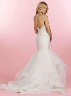 Gorgeous Mermaid Wedding Dresses Hayley Paige Pleated Sweetheart Neckline  Chapel Length Beads Layered Organza Bridal Gown Custom Made C781 2018 from  ... a387a3c9c16d
