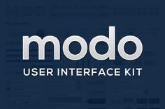 Check out Modo UI Kit by SpringLab on Creative Market