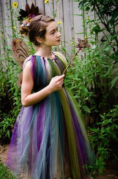 Forest Fairy TuTu Dress Flower Girl Costume by RhiannaKellyDesigns