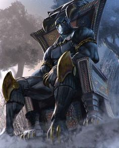 Black Panther-Wakanda King and Protector Black Panther Marvel, Black Panther Storm, Black Panther Art, Comic Book Characters, Marvel Characters, Comic Character, Comic Books Art, Comic Art, Marvel Movies