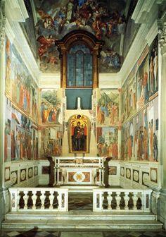 Cappella Brancacci - Basilica di Santa Maria del Carmine - Firenze - opera fondamentale dell'arte rinascimentale, decorata da Masaccio e Masolino da Panicale e in seguito completata da Filippino Lippi