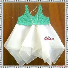 Первое комбинированое платье