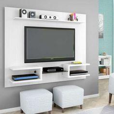 Painel para TV 1.6 Atlas Branco com Textura