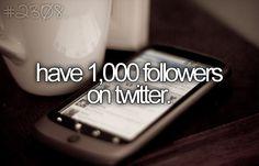 Make that 2000 Followers. ;)