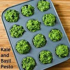 I'm crazy about this healthy Kale and Basil Pesto with Lemon and Parmesan; it's especially great when you don't have enough basil to make regular pesto. [from Kalyn's Kitchen] #Summer #FreshHerbs #LowCarb #GlutenFree