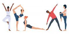 Set of fitness instructor practicing yoga Free Vector Photoshop, Pilates, Yoda Drawing, Yoga Illustration, Digital Illustration, Yoga Art, Free Yoga, Vector Photo, Wellness Fitness