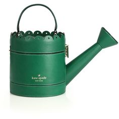 Kate Spade New York Spring Forward Watering Can Top-Handle Bag (£230) ❤ liked on Polyvore featuring bags, handbags, apparel & accessories, green, kate spade purses, kate spade, green leather purse, buckle purses and green handbag