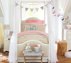 Luxury Unique Kids Beds And Kids Furniture Pottery Barn Kids Beds Unique Kids Beds Remy Bed Aged White O Modern 27 Beautiful Bedrooms 2018 – Decoration Inside Girls Bunk Beds, Cool Bunk Beds, Kid Beds, Kids Room Furniture, Bedroom Furniture, Furniture Ideas, Pottery Barn Kids, Dream Bedroom, Girls Bedroom