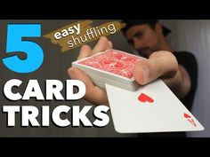 5 Easy One Handed Card Tricks to Shuffle the Cards for Beginners - YouTube