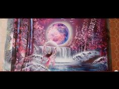 Fairy spray paint art tutorial - YouTube