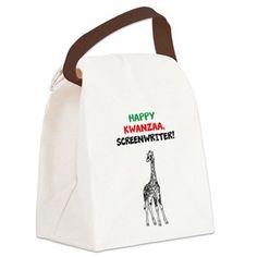 Happy Kwanzaa, Screenwriter Canvas Lunch Bag