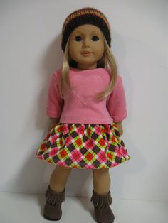 American Girl Doll Clothes Pretty in Plaid by 123MULBERRYSTREET, $28.00