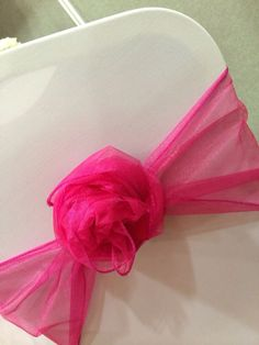 Sash rose in pink organza by Made Marvellous