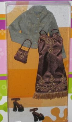 Fashion Avenue Barbie 2003 C4001 Beat Street Brown Dress Jean Jacket | eBay