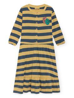 Happy Sad stripe buttons dress by Bobo Choses. From The Happy Sads collection by Bobo Choses. We love this cool dress by Bobo Choses. Dress Skirt, Shirt Dress, Button Dress, Stylish Kids, Winter Looks, Kids Wear, Striped Dress, Nice Dresses, Organic Cotton