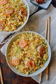 Ginger Garlic Shrimp Fried Rice recipe by the Woks of Life