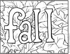 Printable coloring page - fall with leaves (and some activities your kids can do with the page)